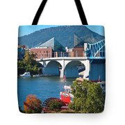 Chattanooga Landmarks Tote Bag by Tom and Pat Cory