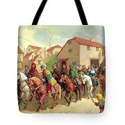 Chaucer's Pilgrims Tote Bag by van der Syde