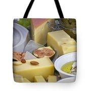 Cheese Plate Tote Bag by Joana Kruse