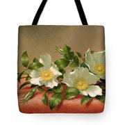 Cherokee Roses Tote Bag by Martin Johnson Heade