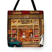 Cheskies Hamishe Bakery Tote Bag by Carole Spandau
