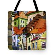 Chesky Krumlov Masna Street 1 Tote Bag by Yuriy  Shevchuk