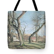 Chestnut Trees At Louveciennes Tote Bag by Camille Pissarro