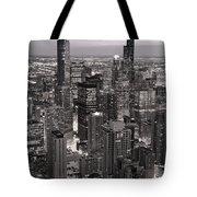 Chicago Loop Sundown B And W Tote Bag by Steve Gadomski