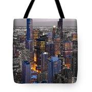 Chicago Loop Sundown Bw Color Blend Tote Bag by Steve Gadomski