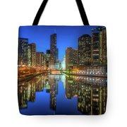 Chicago River East Tote Bag by Steve Gadomski