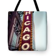 Chicago Theatre Marquee Sign Vintage Tote Bag by Paul Velgos