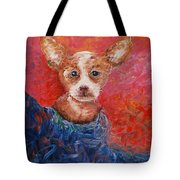 Chihuahua Blues Tote Bag by Nadine Rippelmeyer