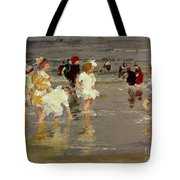 Children On The Beach Tote Bag by Edward Henry Potthast