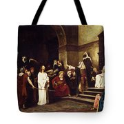 Christ Before Pilate Tote Bag by Mihaly Munkacsy