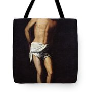 Christ Bound To The Column Tote Bag by Alonso Cano