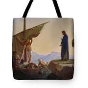 Christ Calling The Apostles James And John Tote Bag by Edward Armitage