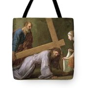 Christ Carrying The Cross Tote Bag by Eustache Le Sueur