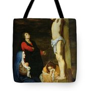 Christ On The Cross Tote Bag by Gerard de Lairesse