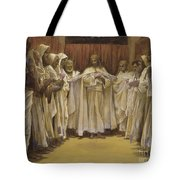 Christ With The Twelve Apostles Tote Bag by Tissot