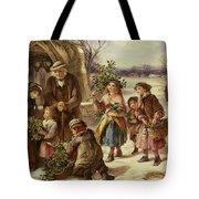 Christmas Morning Tote Bag by Thomas Falcon Marshall