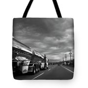 Chrome Tanker Tote Bag by Theresa Tahara