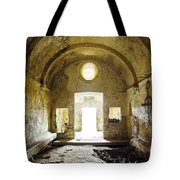 Church Ruin Tote Bag by Carlos Caetano
