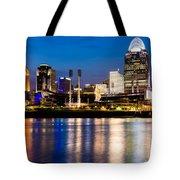 Cincinnati Skyline at Night  Tote Bag by Paul Velgos