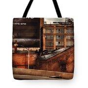 City - Ny - New York History Tote Bag by Mike Savad