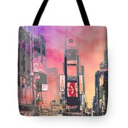 City-art Ny Times Square Tote Bag by Melanie Viola