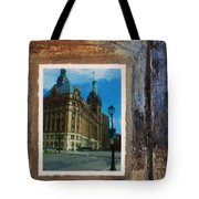 City Hall And Street Lamp Tote Bag by Anita Burgermeister