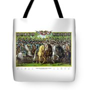 Civil War Generals And Statesman With Names Tote Bag by War Is Hell Store