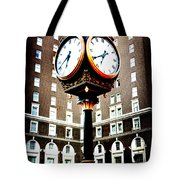 Clock Tote Bag by Kelly Hazel