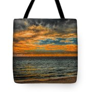 Cloudy Sunrise Tote Bag by Dave Bosse