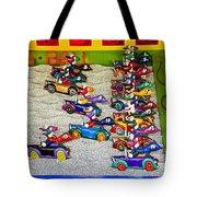 Clown Car Racing Game Tote Bag by Garry Gay