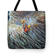 Clown Fish Tote Bag by Michael Peychich