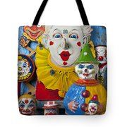 Clown Toys Tote Bag by Garry Gay