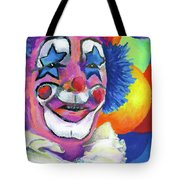 Clown With Balloons Tote Bag by Stephen Anderson