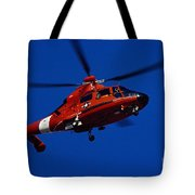 Coast Guard Helicopter Tote Bag by Stocktrek Images