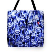 Coca-cola Coke Bottles - Return For Refund - Square - Painterly - Blue Tote Bag by Wingsdomain Art and Photography