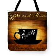 Coffee And Music Tote Bag by Lourry Legarde