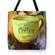 Coffee Cup Tote Bag by Jai Johnson