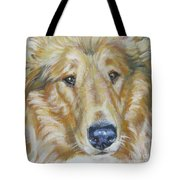 Collie Close Up Tote Bag by Lee Ann Shepard