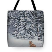 Collie Sable Christmas Tree Tote Bag by Lee Ann Shepard