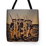 Colonial Soldiers On Parade Tote Bag by Bill Cannon