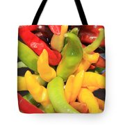 Colorful Chili Peppers  Tote Bag by Carol Groenen