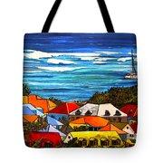Colors Of St Martin Tote Bag by Patti Schermerhorn