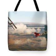 Colourful Encounter Tote Bag by Pat Speirs