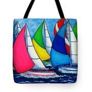 Colourful Regatta Tote Bag by Lisa  Lorenz