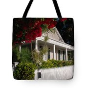 Conch House In Key West Tote Bag by Susanne Van Hulst