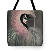 Concrete Angel Tote Bag by LKB Art and Photography