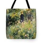 Conversation In A Rose Garden Tote Bag by Pierre Auguste Renoir