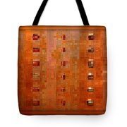 Copper Abstract Tote Bag by Carol Groenen