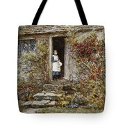 Corcorus Japonica Tote Bag by Helen Allingham