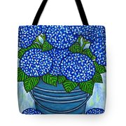 Country Blues Tote Bag by Lisa  Lorenz